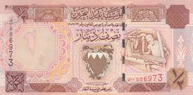 Bahrain, 1/2 Dinar, 1998, UNC, p18