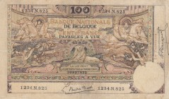 Belgium, 100 Francs, 1920, VF (+), p78