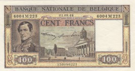 Belgium, 100 Francs, 1948, XF, p126