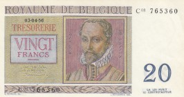 Belgium, 20 Francs, 1956, UNC, p132b