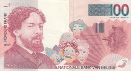 Belgium, 100 Francs, 1995-2001, XF (+), p1147