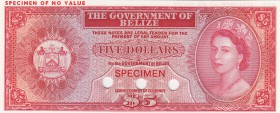 Belize, 5 Dollars, 1975, UNC, p34a, SPECİMEN