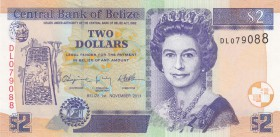 Belize, 2 Dollars, 2011, UNC, p66d