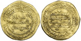 ABBASID, AL-MUKTAFI (289-295h) Dinar, al-Masisa 289h Weight: 4.09g References: Bernardi 226Fd, citing a single example of this date (= Markov 898) Ver...