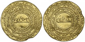 FATIMID, AL-MU'IZZ (341-365h) Dinar, al-Mansuriya 342h Weight: 4.11g Reference: Nicol 388 Small edge kink and possibly once mounted, otherwise very fi...