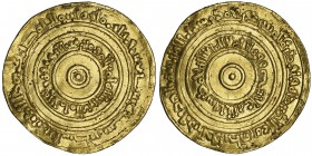 FATIMID, AL-'AZIZ (365-386h) Dinar, Filastin 370h Weight: 4.08g Reference: Nicol 673 Wavy flan, otherwise very fine and rare