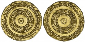 FATIMID, AL-'AZIZ (365-386h) Dinar, Filastin 380h Weight: 4.16g Reference: Nicol 680 About very fine, rare
