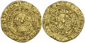 FATIMID, AL-HAKIM (386-411h) Dinar, Tabariya 394h Weight: 3.97g Reference: cf Nicol 1015 [395h] Very good and excessively rare, apparently unpublished...