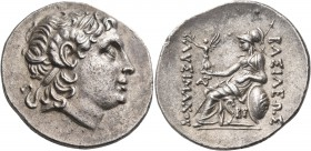 KINGS OF THRACE. Lysimachos, 305-281 BC. Tetradrachm (Silver, 32 mm, 16.77 g, 12 h), struck posthumously, Byzantion, c. 220/200. Diademed head of Alex...