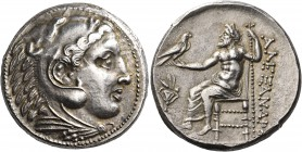 KINGS OF MACEDON. Alexander III 'the Great', 336-323 BC. Tetradrachm (Silver, 26 mm, 17.29 g, 4 h), Pella, circa 325-315. Head of youthful Herakles in...