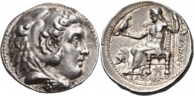 KINGS OF MACEDON. Alexander III 'the Great', 336-323 BC. Tetradrachm (Silver, 27 mm, 17.15 g, 5 h), under Seleukos I Nikator, Seleukeia-on-the-Tigris,...