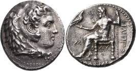 KINGS OF MACEDON. Philip III Arrhidaios, 323-317 BC. Tetradrachm (Silver, 27 mm, 17.18 g, 4 h), Babylon, c. 323-318/7. Head of Herakles to right, wear...