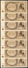Bohemia & Moravia Protectorate of Bohemia and Moravia 50 Korun 1944 Pick 10a SB408a-b Group of 7 Specimen Examples Very Fine-Uncirculated.   HID098012...