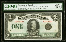 Canada Dominion of Canada 1 Dollar 2.7.1923 DC-25o PMG Choice Extremely Fine 45 EPQ.   HID09801242017