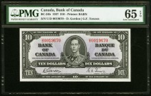 Canada Bank of Canada 10 Dollars 2.1.1937 BC-24b PMG Gem Uncirculated 65 EPQ.   HID09801242017