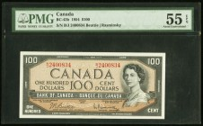 Canada Bank of Canada 100 Dollars 1954 BC-43b PMG About Uncirculated 55 EPQ.   HID09801242017