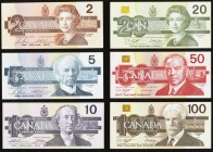 Bank of Canada Bird Series Denomination Set of 6 Examples Choice About Uncirculated-Uncirculated.   HID09801242017