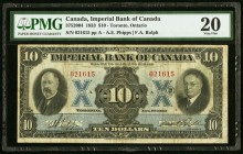 Canada Imperial Bank of Canada 10 Dollars 1.11.1933 Ch. # 375-20-04 PMG Very Fine 20.   HID09801242017