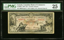 Canada Canadian Bank of Commerce $10 2.6.1935 Ch. # 75-18-08b PMG Very Fine 25.   HID09801242017