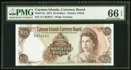 Cayman Islands Currency Board 25 Dollars 1974 (ND 1981) Pick 8a PMG Gem Uncirculated 66 EPQ.   HID09801242017