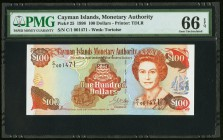 Cayman Islands Monetary Authority 100 Dollars 1998 Pick 25 PMG Gem Uncirculated 66 EPQ.   HID09801242017