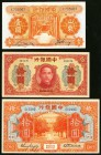 China Bank of China 1 Yuan; 10 Yuan; 10 Dollars 1930 Pick 71; 95; 69 Very Fine-Extremely Fine.   HID09801242017