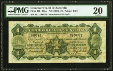 Australia Commonwealth of Australia 1 Pound ND (1923) Pick 11b PMG Very Fine 20. A pleasing enough example of this scarce, early type. All details are...