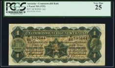 Australia Commonwealth Bank of Australia 1 Pound ND (1932) Pick 16d PCGS Very Fine 25. A pleasing example of this popular issue. Becoming scarce in co...