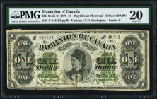 DC-8e-iii-O $1 1.6.1878 PMG Very Fine 20. A beautiful example of this popular and widely collected type. Grandly sized and original, this type is paya...