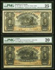 DC-13b $1 1898 Two Examples PMG Very Fine 20; PMG Very Fine 25 Net. A moderately circulated pair of examples of this always popular Canadian note with...