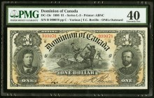 DC-13c $1 1898 PMG Extremely Fine 40. A bright and hugely margined example of this popular issue that, with the Boville signature, was the last of the...