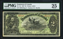 DC-14c $2 2.7.1897 PMG Very Fine 25. This always popular 19th century type features the portrait of the then Prince of Wales, Edward. Original paper i...