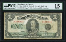 DC-25m $1 2.7.1923 PMG Choice Fine 15. Of the 18 varieties of notes cataloged under DC-25, the variety offered here is one of the scarcest. DC-25m has...