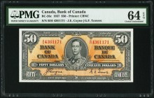 BC-26c $50 2.1.1937 PMG Choice Uncirculated 64 EPQ. An impressive example of this scarcer denomination, and assuredly uncommon in such choice original...