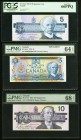 A Selection of Modern Bank of Canada Issues 1979-2005 PMG & PCGS Graded About Uncirculated 53 EPQ or better. This is an eclectic group of modern Bank ...