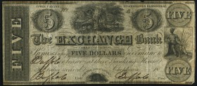 Chippewa, UC- Exchange Bank Company of Chippewa $5 18__ Ch.# 240-10-02R Remainder (Spurious) Fine-Very Fine. An interesting remainder note from a spur...