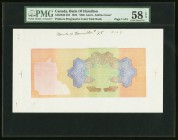 Hamilton, ON- Bank of Hamilton $25 1922 Ch.# 345-22-06 Printer's Progressive Color Tint Book of 5 Pages PMG Choice About Unc 58 EPQ (5). Five pages of...