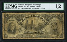 Montreal, PQ- Banque d'Hochelaga $5 1.1.1914 Ch.# 360-22-02 PMG Fine 12. A very popular issue to collect, and scarce in all graded. One of the few Can...