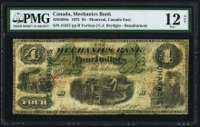 Montreal, PQ- Mechanics Bank $4 1.6.1872 Ch.# 430-10-04c PMG Fine 12 Net. An interesting and rare 19th century issue, with a limited scope of circulat...