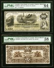 Quebec City, PQ- Union Bank of Canada $10 2.8.1886 Ch.# 730-10-04p1; p2 Front and Back Uniface Proofs PMG Choice Uncirculated 64; Choice About Unc 58....
