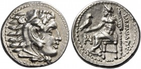 Alexander III, 336 – 323 and posthumous issues. Drachm, Miletus circa 325-323, AR 4.28 g. Head of Heracles r., wearing lion skin headdress. Rev. ΑΛΕΞΑ...