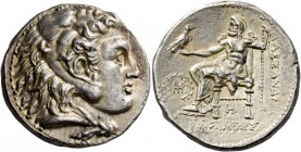 Alexander III, 336 – 323 and posthumous issues. Tetradrachm, Babylon circa 317-311, AR 17.13 g. Head of Heracles r., wearing lion skin headdress. Rev....
