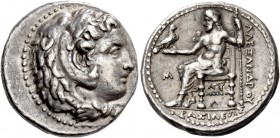 Philip III, 323 – 317 and posthumous issues. Didrachm, Babylon circa 323-317 BC, AR 8.56 g. Head of Heracles r., wearing lion skin headdress. Rev. BAΣ...