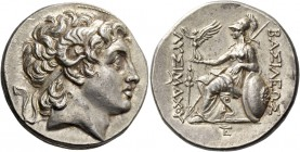Kingdom of Thrace, Lysimachus, 323 – 281 and posthumous issues. Tetradrachm, Pergamum circa 287-282, AR 17.10 g. Diademed head of deified Alexander r....
