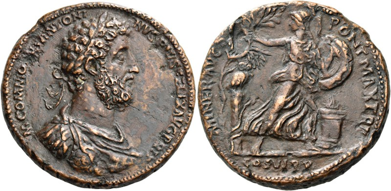 Commodus augustus, 177 – 192. Medallion 190-192, Æ 45.41 g. M COMMODVS ANTONINVS...