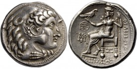 Eastern Celts, Danube region and Balkans. Tetradrachm imitating Philip III circa 2nd century BC, AR 16.46 g. Head of Heracles r., wearing lion skin he...