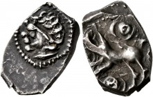 CELTIC, Southern Gaul. Ruteni. Late 2nd to early 1st century BC. Drachm (Silver, 16 mm, 2.20 g, 12 h), 'au sanglier' type. Celticized male head to lef...