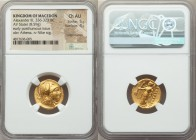 MACEDONIAN KINGDOM. Alexander III the Great (336-323 BC). AV stater (18mm, 8.59 gm, 1h). NGC Choice AU 5/5 - 4/5, edge bumps. Lifetime or early posthu...