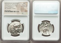 MACEDONIAN KINGDOM. Alexander III the Great (336-323 BC). AR tetradrachm (28mm, 17.17 gm, 12h). NGC AU 5/5 - 4/5. Late lifetime or early posthumous is...