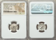 MACEDONIAN KINGDOM. Alexander III the Great (336-323 BC). AR drachm (17mm, 4.27 gm, 12h). NGC MS S 5/5 - 4/5. Lifetime issue of Miletus, ca. 325-323 B...
